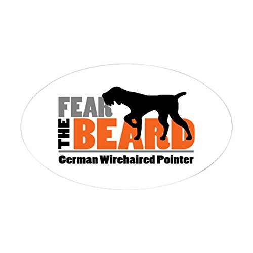 CafePress - Fear The Beard - Gwp Sticker - Oval Bumper Sticker, Euro Oval Car Decal