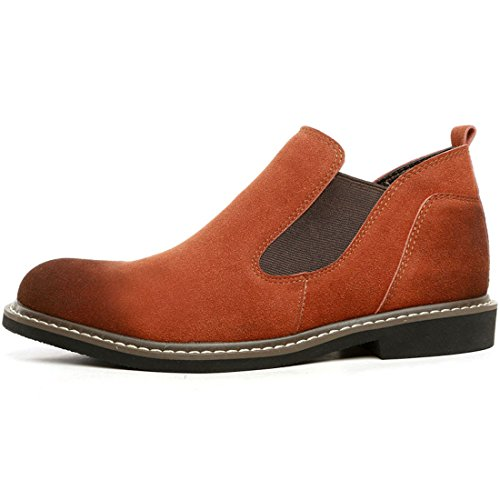 XIAFEN Mens Slip-On Warm Winter With Velvet High-Cut Fashion Sneakers Shoes Brown bo8yApDK