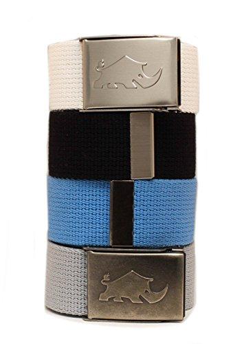 [해외]더 적은 사람을 위한 더 골프 4x2 웹 팩 벨트입니다. 벨트 4 개 및 버클 2 개. 100% 폴 리 에스테 르 (면 보다 훨씬 더) / Less is more golf 4x2 Web Pack Belts for man. 4 belts and 2 buckles. 100% polyester (much better than cotton)