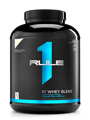 R1 Whey Blend, Rule 1 Proteins (Vanilla Ice Cream, 70 (1 Whey Protein)