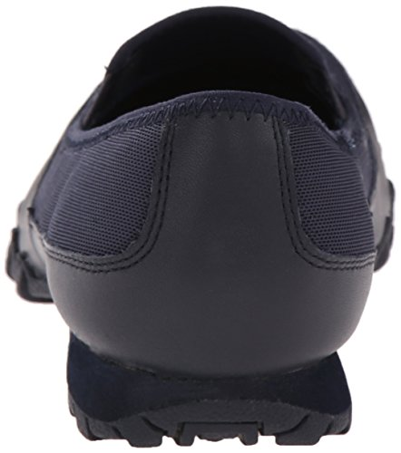 Navy Sneakers Skechers basses femme Blu 48930 Mesh Leather XqBqRA