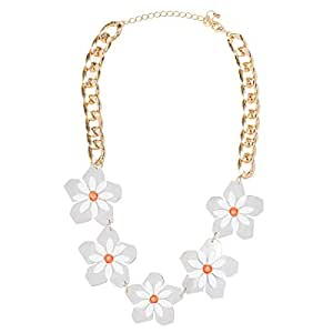 Just Showoff Women's Alloy Mirror Flower Necklace