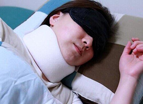 Comolife Anti-Snoring Neck Pillow , Chin strap , Color : White , Size : 13.65*17.55 inches