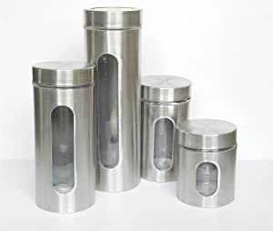 stainless steel kitchen canister spice paradise stainless steel 4 22166
