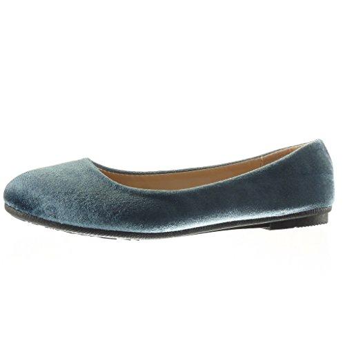 Angkorly - Chaussure Mode Ballerine slip-on femme Talon plat 1 CM - Gris