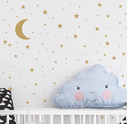 Wall sticker star gold