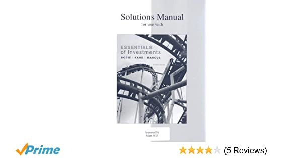 Investments 7th edition solutions manual array solutions manual for use with essentials of investments alan j rh amazon com fandeluxe Choice Image
