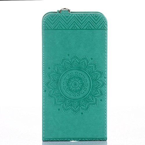 Für Apple iPhone 7 Plus (5,5 Zoll) Tasche ZeWoo® Ledertasche Kunstleder Brieftasche Hülle PU Leder Schutzhülle Case Cover - GH017 / grün