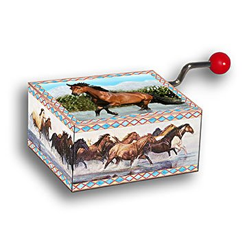 Water Run Mini Musics Hand Music Makers - Mini Horse Music Box
