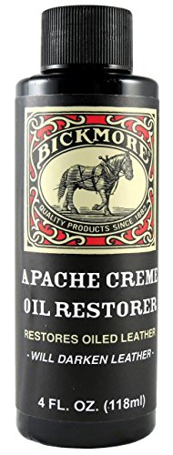 (Bickmore Apache Creme Oil Restorer 4 Ounce - Restores Oiled Leather - Great for Apache or Distressed Leather Boots, Shoes, Bags, and More)