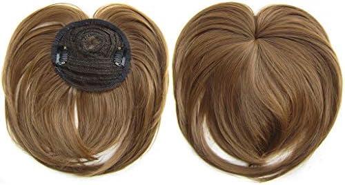 TIREOW Frauen Seidiges Aufsteckhaar Topper Perücke hitzebeständige Faser Perücke Mode Haar Perücke Haarteil Kurze Perücke Für Dünnes Haar, Graues Haar, Haarausfall zu Verbergen (G)
