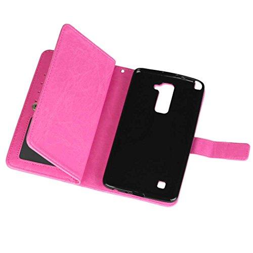 Etui Plastique à Color STYLUS Synthétique Pour Fentes SRY Etui 2 case Cuir Rabat Carte Etui Plus Folio LG Cash Plus STYLUS LG en 2 Premium pour Pink Case STYL Portefeuille avec Etui LG Size Brown 9 6pvOqOAnE