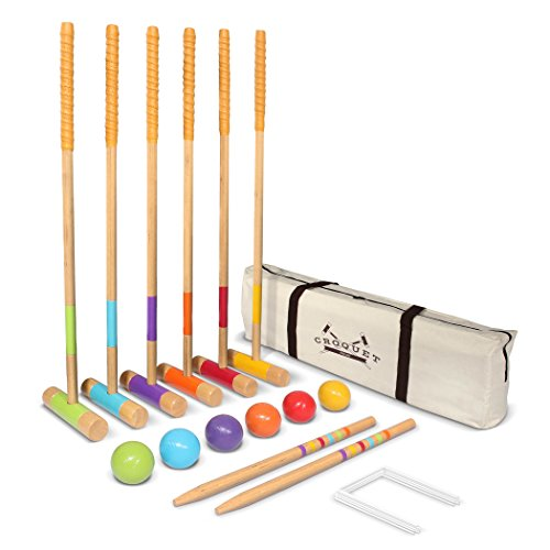 GoSports Premium Croquet Set - Full Size for Adults & Kids ()