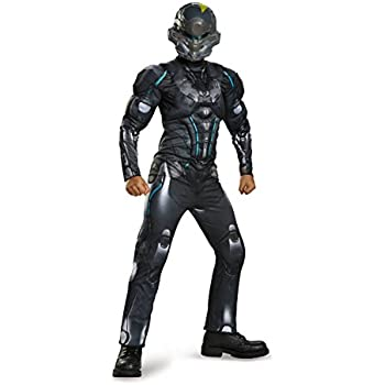 Amazon.com: Master Chief Classic Muscle Costume, Medium (7-8 ...