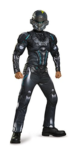 Spartan Locke Classic Muscle Halo Microsoft Costume, Medium/7-8 ()