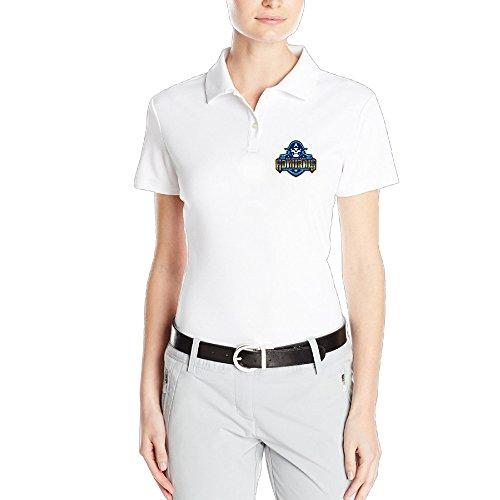 (Milwaukee Admirals Logo White Religion Pique Polo T-shirt For Women - XXL)