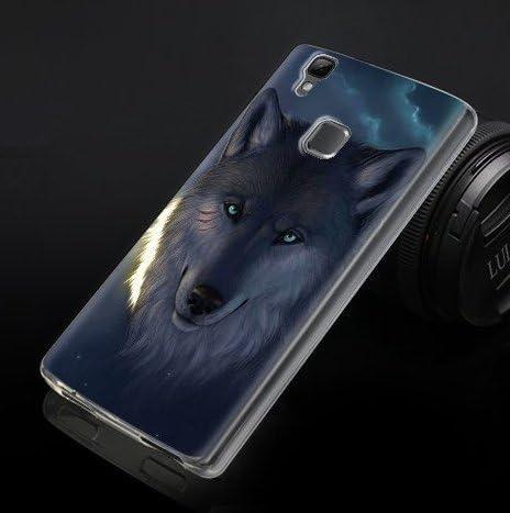 icase4u® silicona carcasa funda cover case perfecta para Doogee X5 Max Pro/Doogee X5 Max (Doogee X5 Max Pro, El lobo): Amazon.es: Electrónica