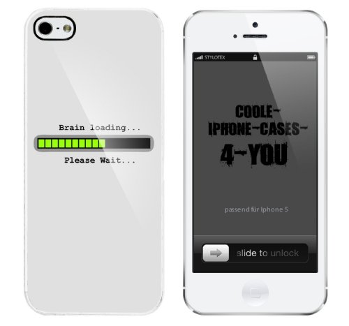 Iphone 5 Case Brain Loading - Please Wait Rahmen weiss