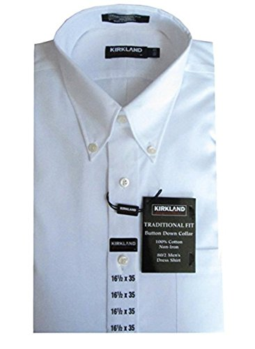 Kirkland Signature Traditional Fit Non-Iron Button Down Collar Oxford Shirt (17
