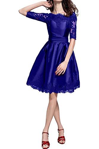 Kurzs Marie Spitze Abendkleider Traube Braut Damen Cocktailkleider Blau Jugendweihe La Kleider Royal Festliche Kleider wq6xZX11