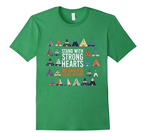 Mens Stand With Strong Hearts No Dakota Access Pipeline Small Grass