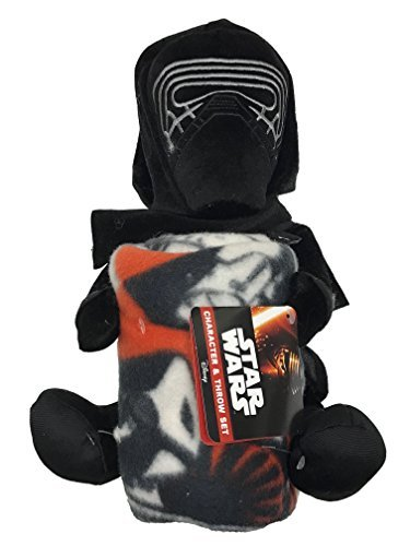 Disney Star Wars Kylo Ren Plush Figurine Doll Hugger and Blanket Throw Gift Set