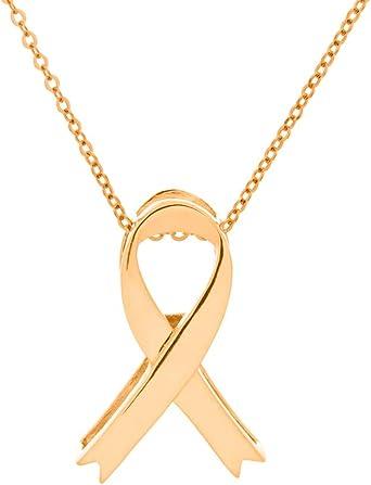 14k Yellow Gold Awareness Pendant