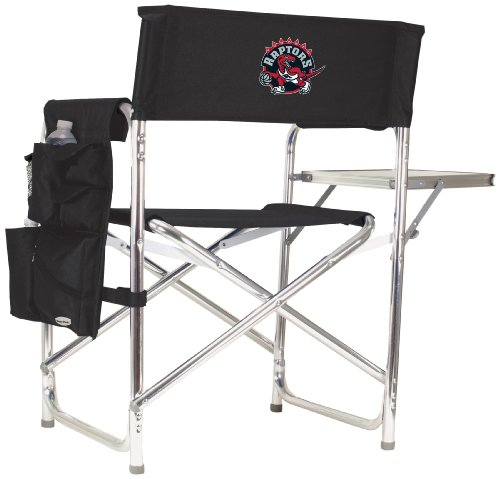 PICNIC TIME NBA Toronto Raptors Portable Folding Sports Chair, Black by PICNIC TIME