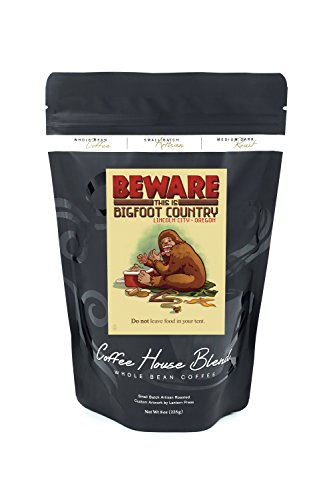 Lincoln City, Oregon - Bigfoot Country - Don't Store Food in Tent (8oz Whole Bean Small Batch Artisan Coffee - Bold & Strong Medium Dark Roast w/ - City Stores Lincoln