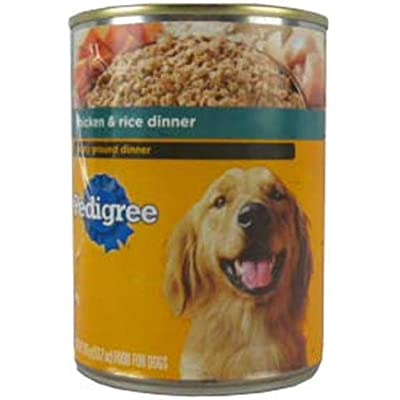 Pedigree Chopped Ground Dinner Chicken & Rice Canned Dog Food 13.2 Ounces (Pack Of 12)