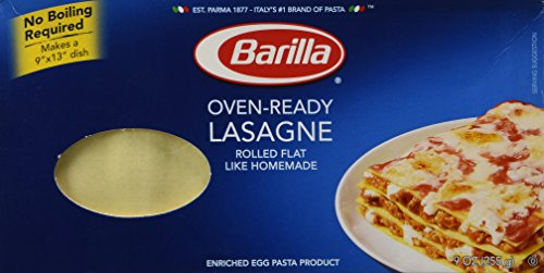Barilla Oven Ready Lasagna Pasta for this dutch oven lasagna recipe