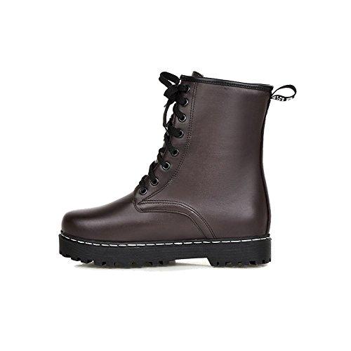 Shoes AgeeMi Mujer Mini Tac Puntera Cordones Cerrada wUU1qdT