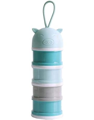 YeahiBaby Dispensadores de leche en polvo para viajes de campamento Azul