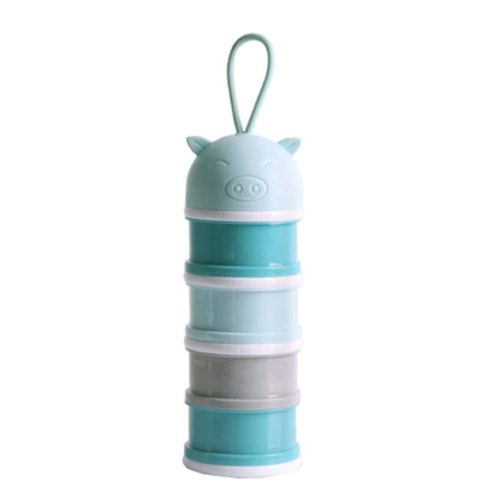 SUPVOX Formula Dispenser Formula Milk Powder Dispenser Snack Container No Powder Leakage 4 Compartment Container for Baby Kid Child by SUPVOX