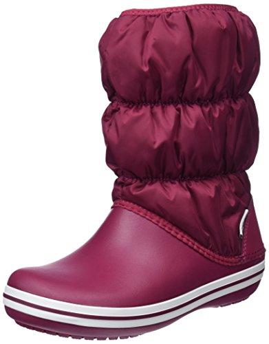 Women Winter Crocs Snow Pomegranate Red Boots 6d7 White Puff dpqqTw