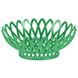 TableTop King OB-940-FG Forest Green Oval 10'' x 8 1/4'' Plastic Fast Food Basket - 12/Pack