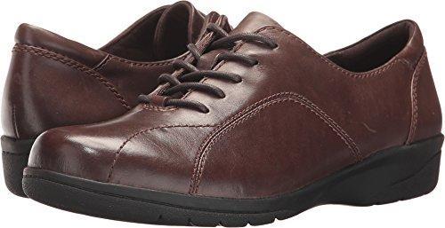 CLARKS Women's Cheyn Ava Oxford, Dark Brown Leather, 8 M US by CLARKS