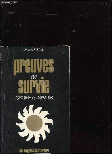 Livre gratuits en ligne PREUVES DE SURVIE pdf ebook