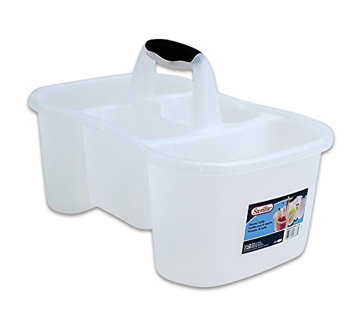 Sterilite Bath Caddy with 5 Compartments, Large, Clear ()