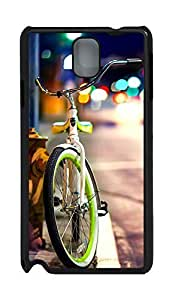 Samsung Note 3 Case Bicycle on the street PC Custom Samsung Note 3 Case Cover Black