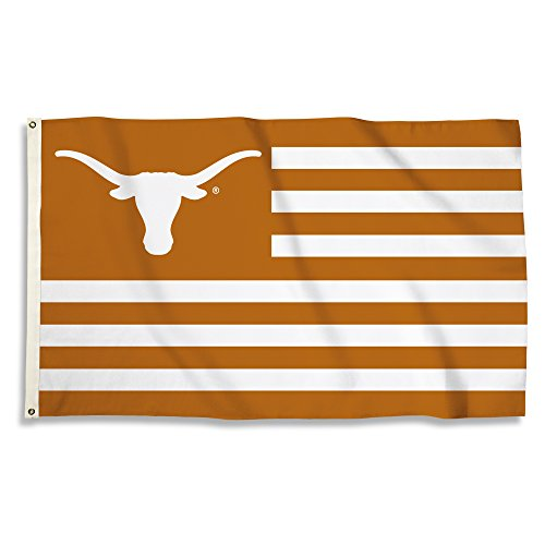 NCAA Texas Longhorns 3 X 5 Foot Flag with Grommets, Texas Orange,