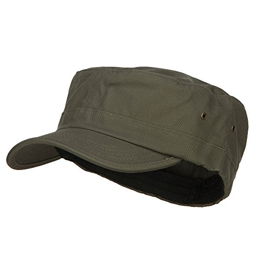 E4hats Big Size Fitted Trendy Army Style Cap - Olive XL-2XL