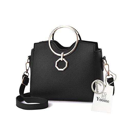 Crossbody Handle Bolsos Anillo Womens Circular Yoome Handbags Top Lichee Punk Vintage Patrón Estilo gqw6gA8fxT