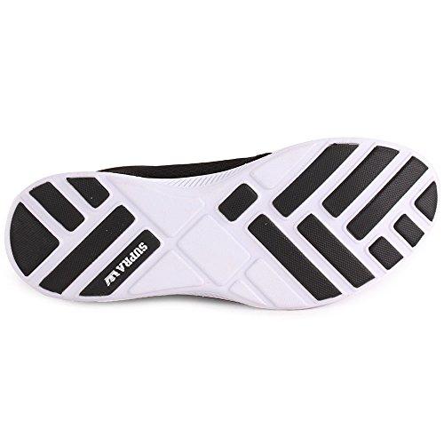 Supra Run Sneakers Unisex Adults' Black Low Hammer Top White TzTr5U
