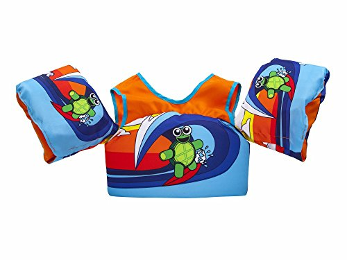Body Glove 13226-ONE-SRFTRT  Kids Paddle Pal Surfer Turtle Learn To Swim Life (Glove Band)