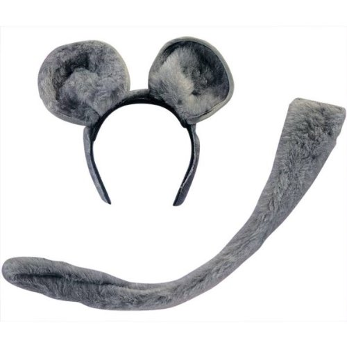 Rubie's Mouse Ears & Tail Costume, One Size, Multicolor