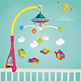 BeesClover Baby Bed Bell 0-1 Year Old Newborn 0-12months Toy Rotating Music Hanging Baby Rattle Bracket Set Baby Crib Mobile Holder Show
