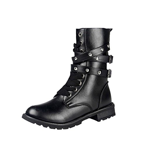 Dear Time Arrival PU Leather Women Boots Black yEYfY