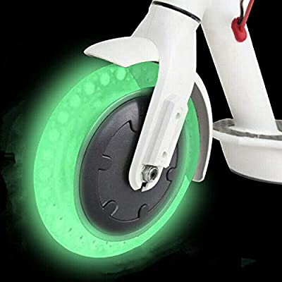 chuancheng Fluorescent Tire for Xiaomi Mijia M365, 8.5inch Solid Wheels for Electric Scooter Tubeless Solid Tire Replacement Outer Cover Tire 8 1/2×2 Escooter Tire : Sports & Outdoors
