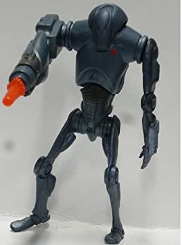 Star Wars Episode 2 Blue card Super Battle Droid Basic Figure TOMY